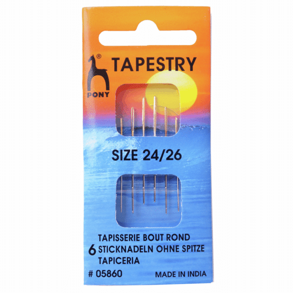 Pony - Hand Sewing Needles - Tapestry - Gold Eye - Size 24/26 1