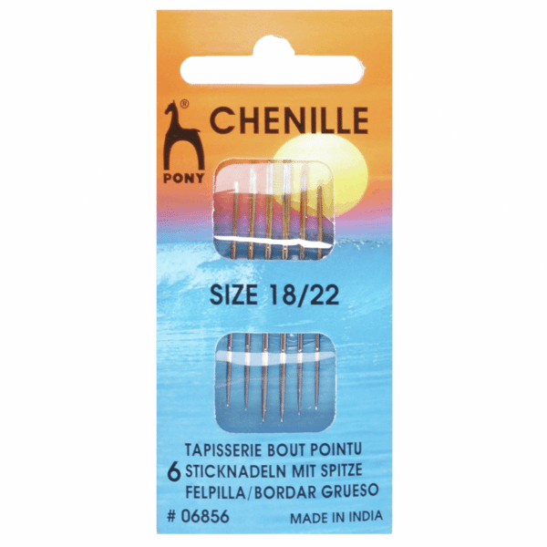 Pony - Hand Sewing Needles - Chenille - Gold Eye - Size 18/22 1