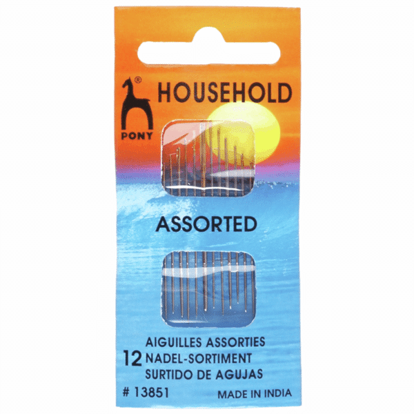 Pony - Hand Sewing Needles - Household - Gold Eye - Assorted Sizes 1