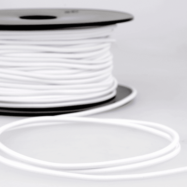 Round Elastic - White - 3mm x 2m 1