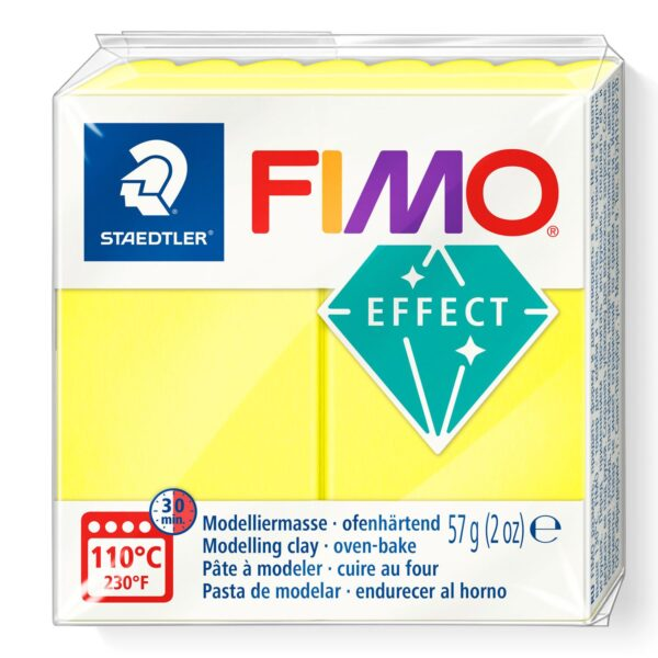 Fimo Effect Modelling Clay - Neon Yellow 1