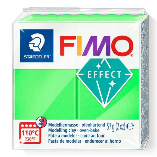 Fimo Effect Modelling Clay - Neon Green 1