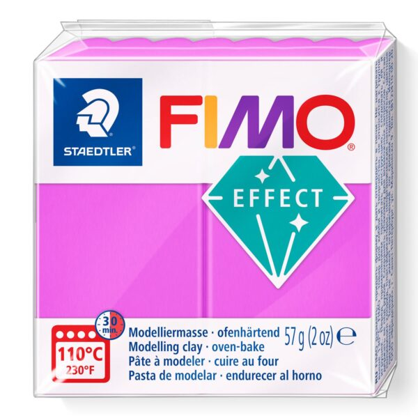 Fimo Effect Modelling Clay - Neon Purple 1