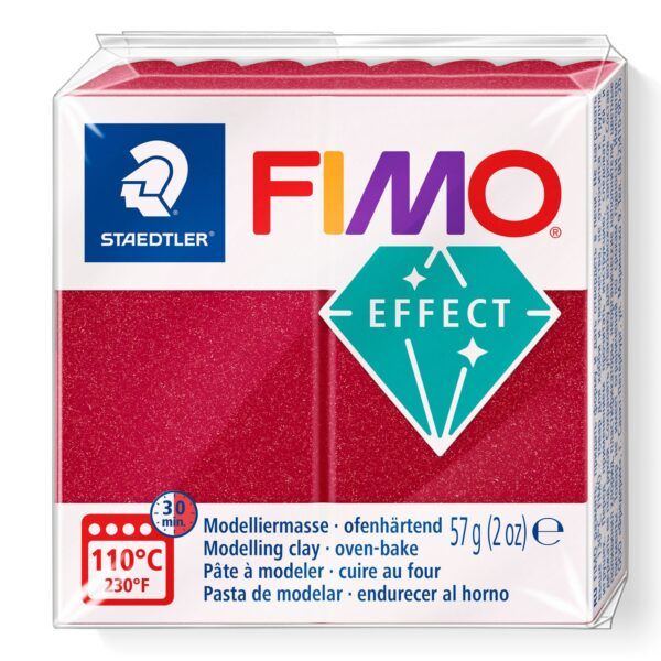 Fimo Effect Modelling Clay - Metallic Ruby Red 1
