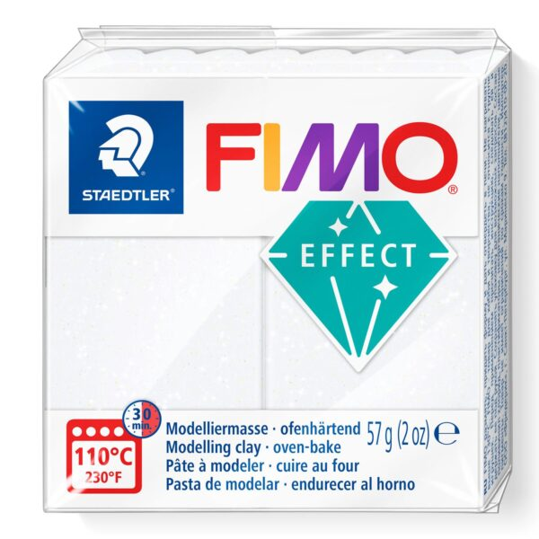 Fimo Effect Modelling Clay - Glitter White 1