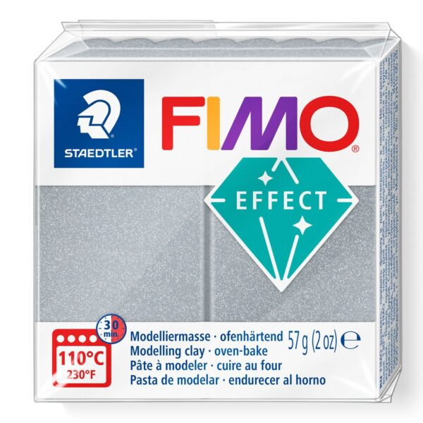 Fimo Effect Modelling Clay - Metallic Silver 1