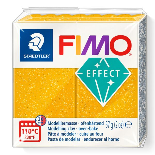 Fimo Effect Modelling Clay - Glitter Gold 1