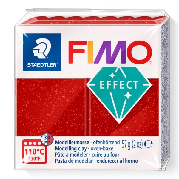 Fimo Effect Modelling Clay - Glitter Red 1
