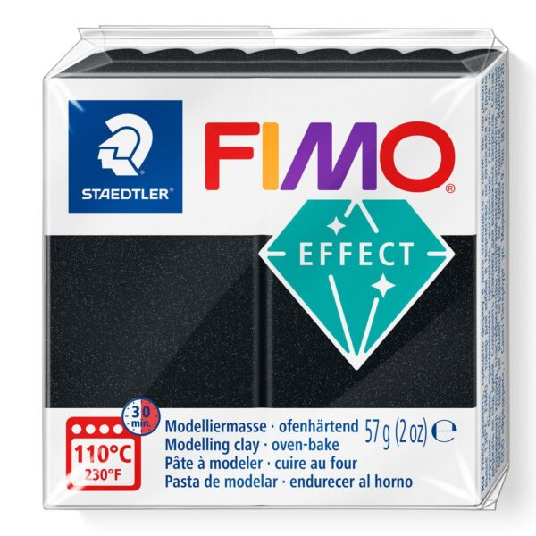Fimo Effect Modelling Clay - Pearl Black 1