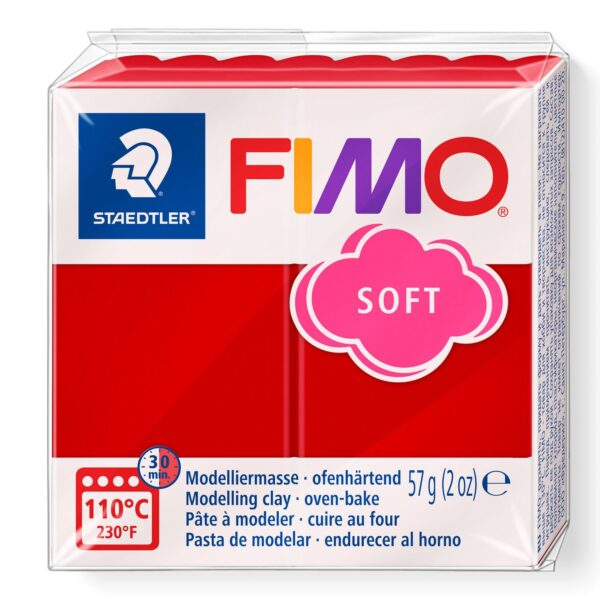 Fimo Soft Modelling Clay - Christmas Red 1