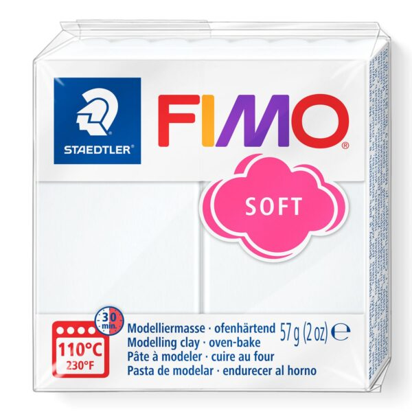 Fimo Soft Modelling Clay - White 1