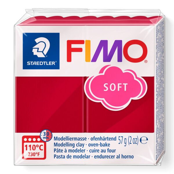 Fimo Soft Modelling Clay - Cherry Red 1