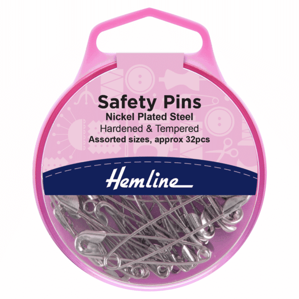Hemline - Safety Pins - Assorted Sizes - 32pcs 1