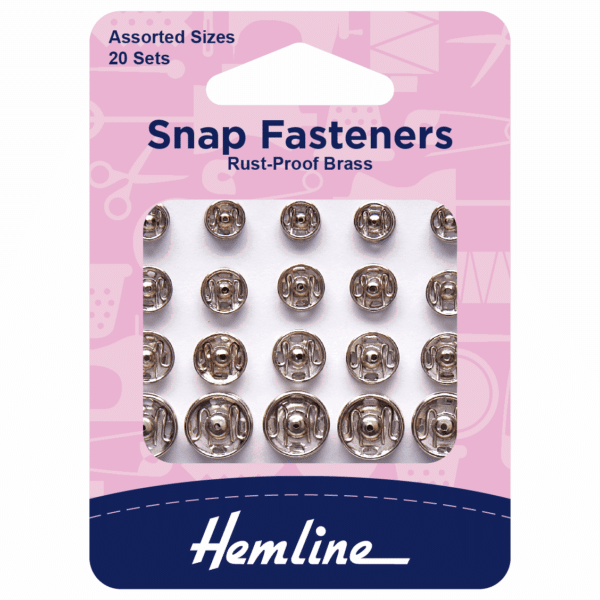 Hemline - Snap Fasteners - Sew-On - Assorted Sizes 1
