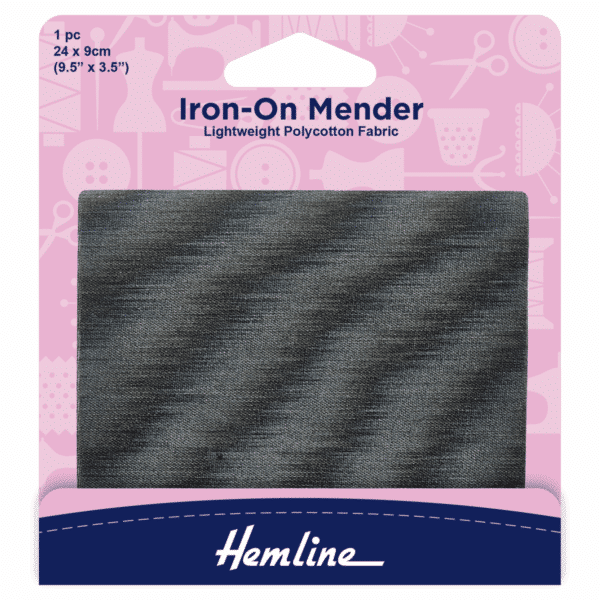Hemline - Iron-On Mender - Dark Grey 1