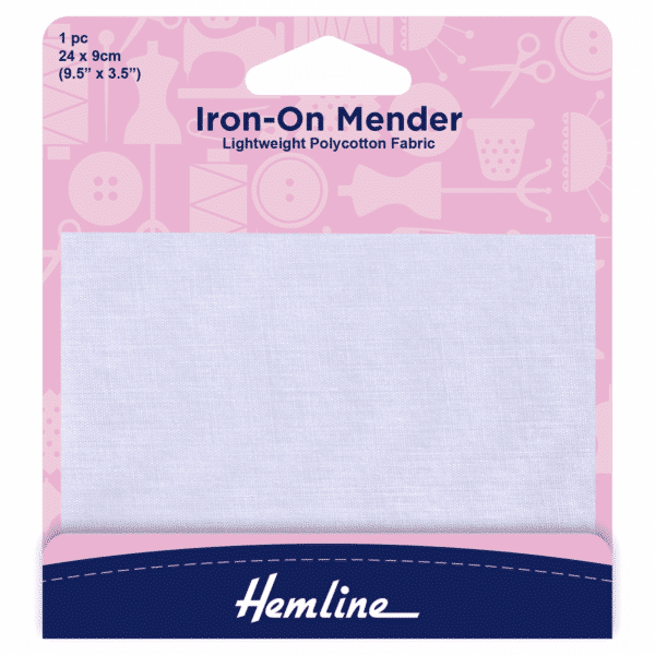 Hemline - Iron-On Mender - White 1