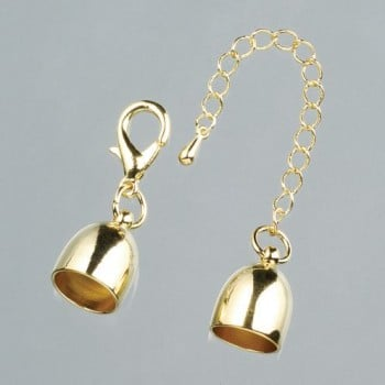 Efco - End Caps with Chain - 12mm - Gold 1