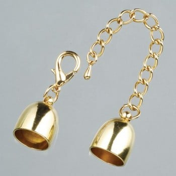 Efco - End Caps with Chain - 14mm - Gold 1