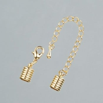 Efco - Grooved End Caps with Chain - 6mm - Gold 1