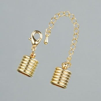 Efco - Grooved End Caps with Chain - 10mm - Gold 1