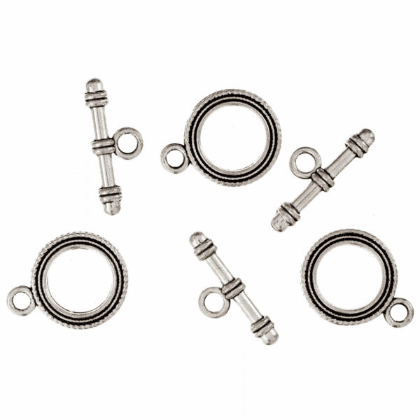 Trimits - Toggle & Clasp - Round - Silver 1