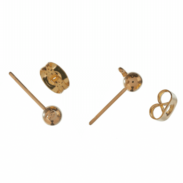 Trimits - Ear Posts - Stud & Ring with Scroll - Gold 1
