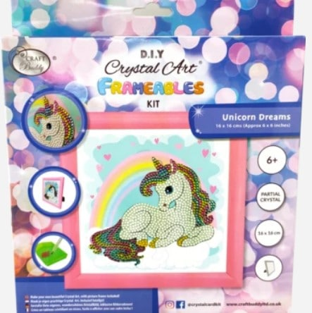 DIY Crystal Art Kits - Frameables - Unicorn Rainbow 3