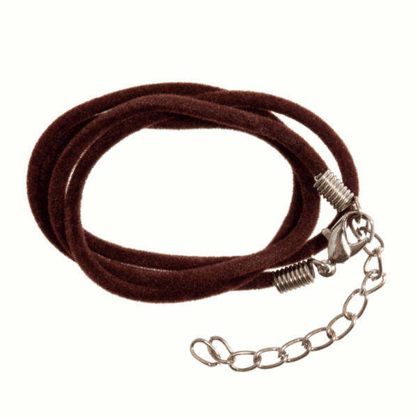 Trimits - Suede Cord With Clasp - 51cm - Brown 1