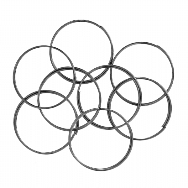 Trimits - Memory Wire - 2cm Rings - 8 Coils 1