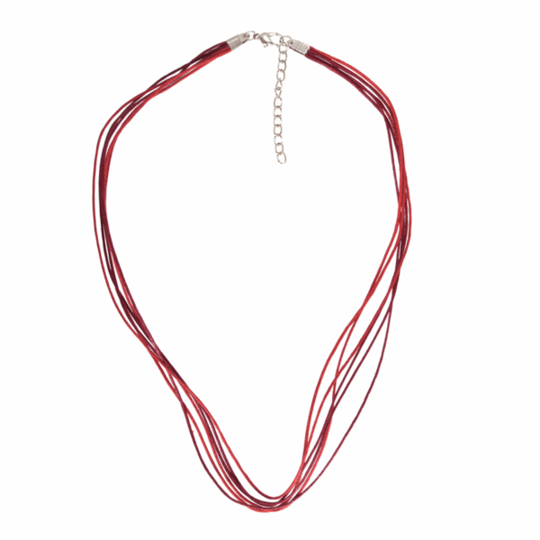 Trimits - Waxed Cord & Clasp - Red 1