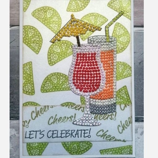 A5 Crystal Art Stamp Set - Cocktail Sparkle 3