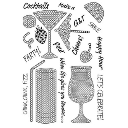 A5 Crystal Art Stamp Set - Cocktail Sparkle 1