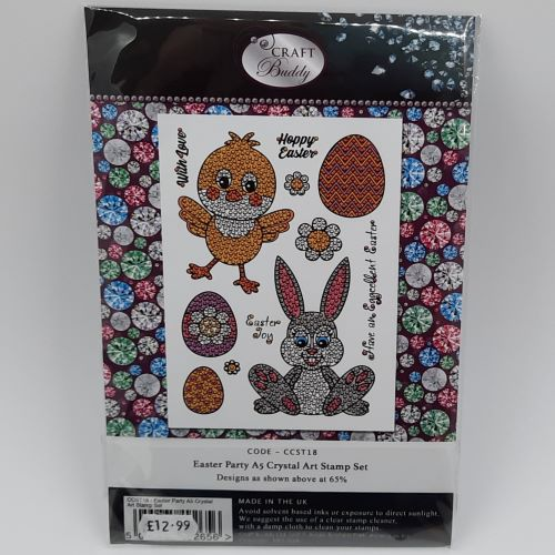 A5 Crystal Art Stamp Set - Easter Party 1