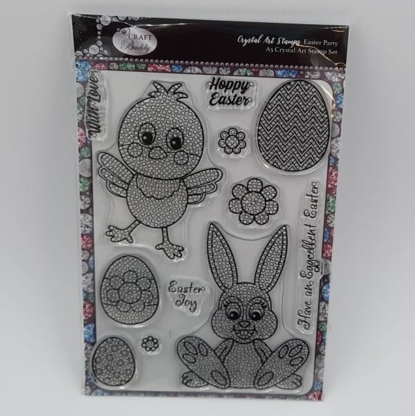 A5 Crystal Art Stamp Set - Easter Party 2
