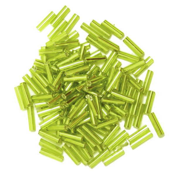 Craft Factory - Bugle Beads - Lime Green 1