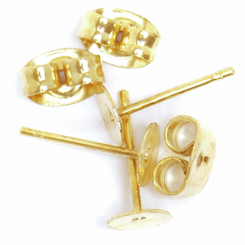 Craft Factory - Ear Posts - Flat Stud & Scroll - Gold Plated 1