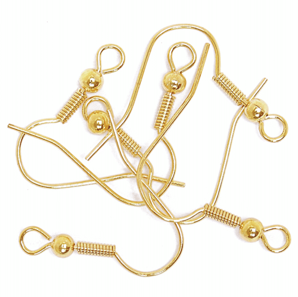 Craft Factory - Ear Wire - Long Ball - Gold Plated 1