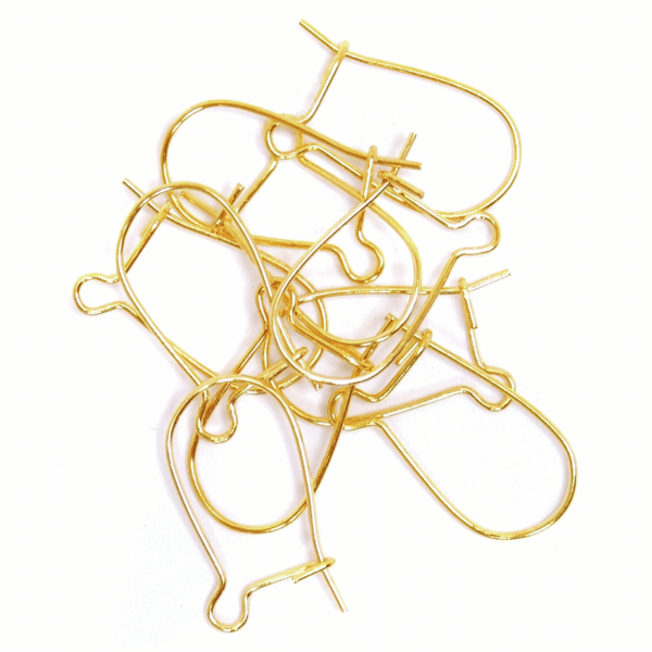 Craft Factory - Kidney Ear Wire - Gold Plated 1