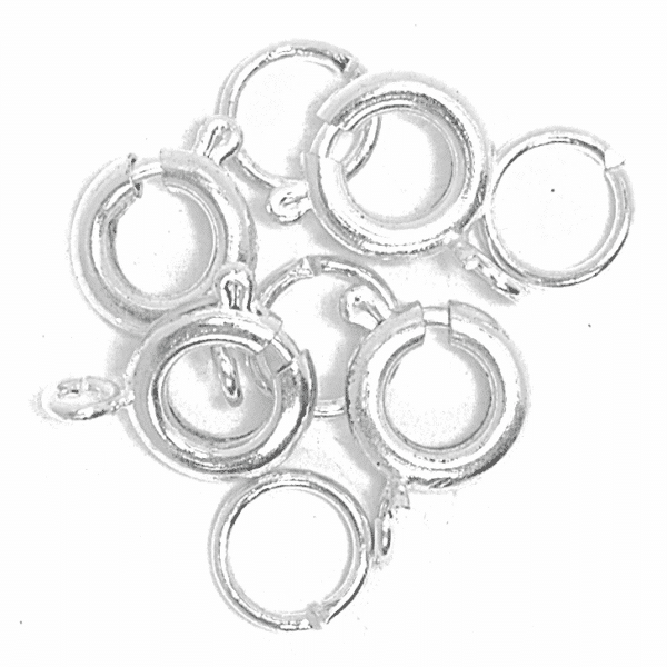 Craft Factory - Bolt Clasp & Spring - Silver Plated 1