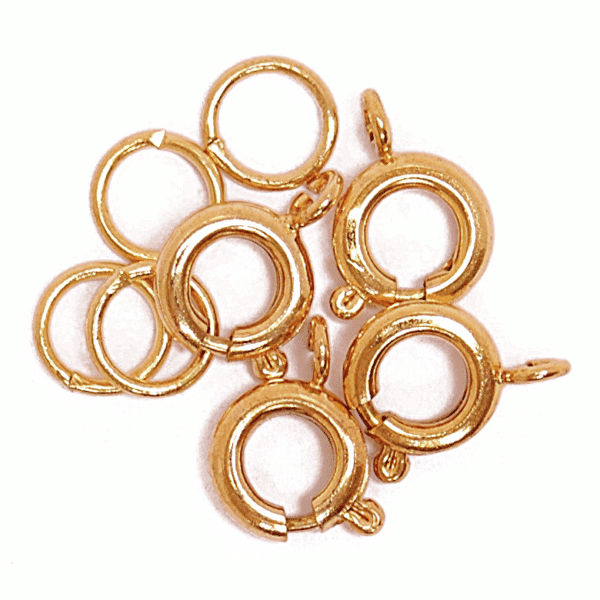 Craft Factory - Bolt Clasp & Spring - Gold Plated 1