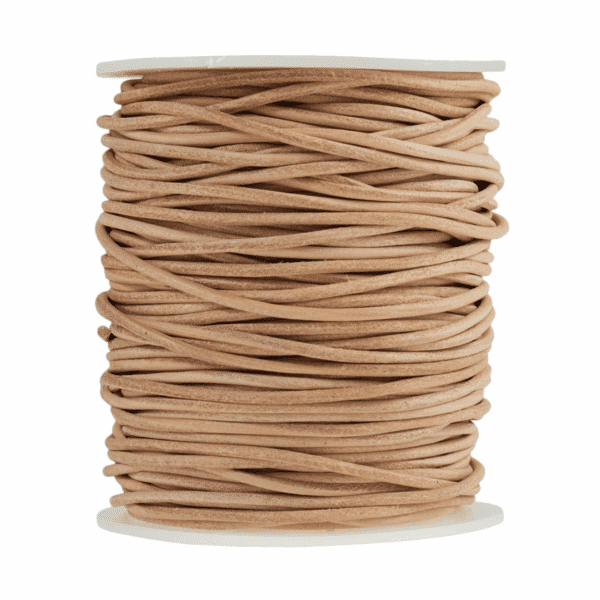 Craft Factory - Leather Thonging - 2m x 2mm - Natural 1
