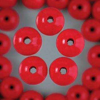 Efco - Wooden Beads - 4mm - Red 1