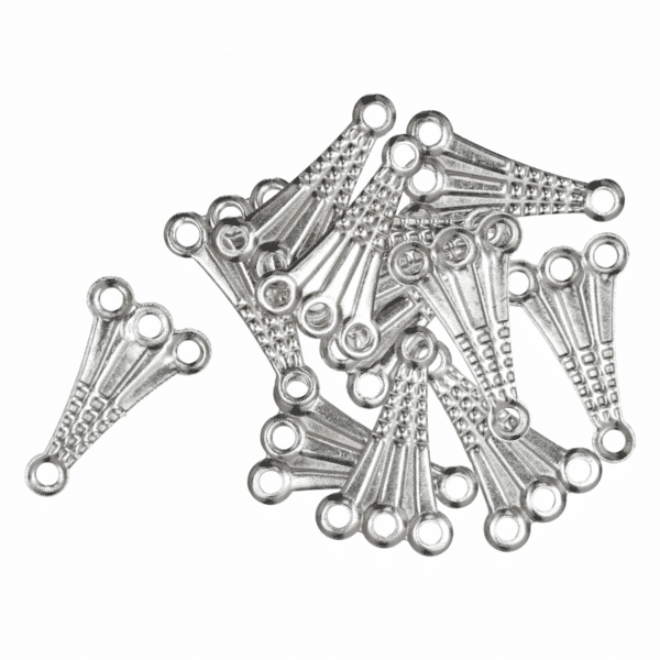 Trimits - Fancy 3 Strand Connector - Silver Plated 1