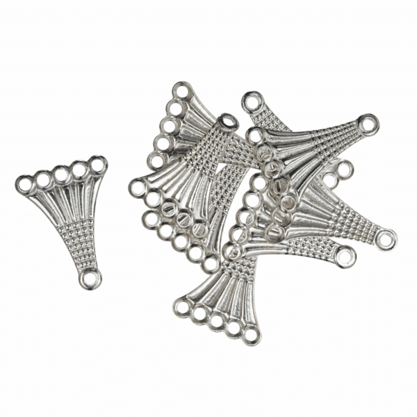 Trimits - Fancy 5 Strand Connector - Silver Plated 1