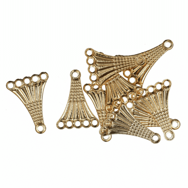 Trimits - Fancy 5 Strand Connector - Gold Plated 1