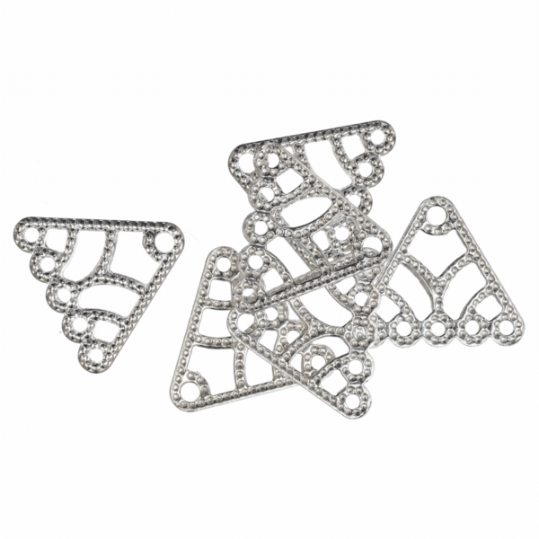 Trimits - Filigree 5 Strand Connector - Silver Plated 1