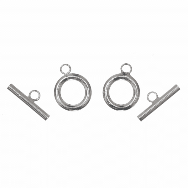 Trimits - Toggle & Clasp - Round - Silver Plated 1