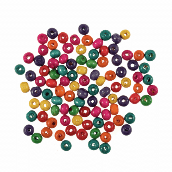 Trimits - Wooden Beads - 6mm - Assorted 1