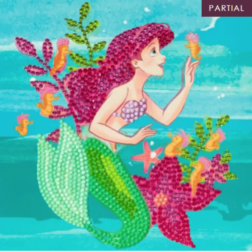 DIY Crystal Art Kits - Disney Card Kit 18x18cm - Ariel 1