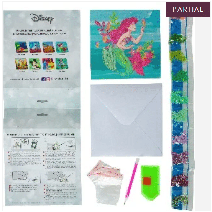 DIY Crystal Art Kits - Disney Card Kit 18x18cm - Ariel 4